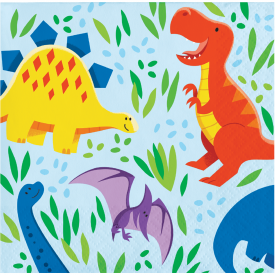 DINOSAUR FRIENDS BEVERAGE NAPKINS