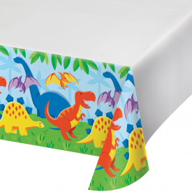 DINOSAUR FRIENDS PLASTIC TABLECLOTH