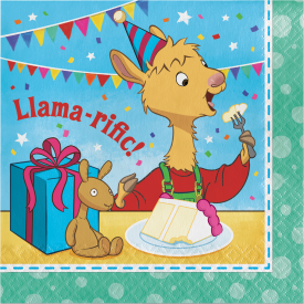 LLAMA LLAMA HAPPY BIRTHDAY NAPKINS