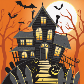 HALLOWEEN HAUNTED HOUSE NAPKINS