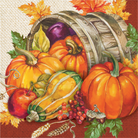 THANKSGIVING PLENTIFUL HARVEST LUNCH NAPKINS