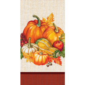 THANKSGIVING PLENTIFUL HARVEST GUEST TOWELS 3-PLY