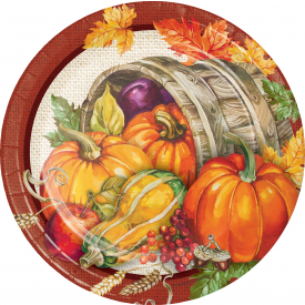 THANKSGIVING PLENTIFUL HARVEST DESSERT PLATES 7