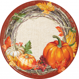 THANKSGIVING PLENTIFUL HARVEST PAPER PLATES 9