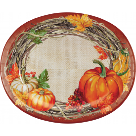 THANKSGIVING PLENTIFUL HARVEST OVAL PLATTERS