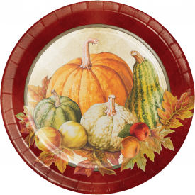 TRADITIONS OF THANKSGIVING DESSERT PLATES