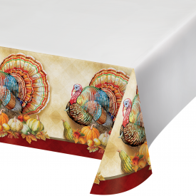 TRADITIONS OF THANKSGIVING PLASTIC TABLECLOTH
