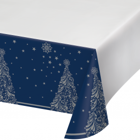 SILENT NIGHT PLASTIC TABLECLOTH