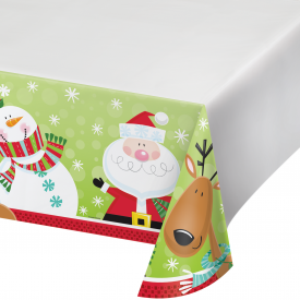 CHARACTERS OF CHRISTMAS PLASTIC TABLECLOTH
