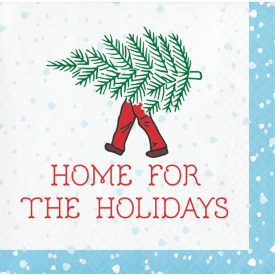 HOME FOR THE HOLIDAYS BEVERAGE NAPKINS