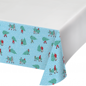 HOME FOR THE HOLIDAYS PLASTIC TABLECLOTH