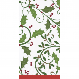HOLIDAY HOLLY GUEST TOWELS