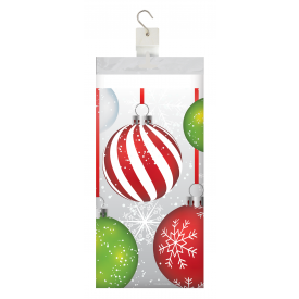 HOLIDAY ORNAMENTS PLASTIC TABLECLOTH