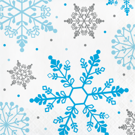 WINTER SNOWFLAKE NAPKINS