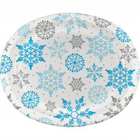 WINTER SNOWFLAKE OVAL PLATES
