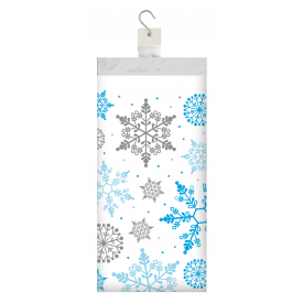 WINTER SNOWFLAKE PLASTIC TABLECLOTH
