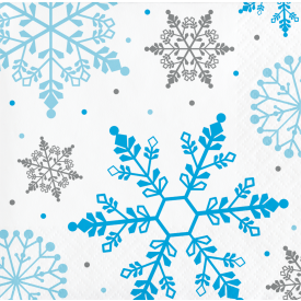 WINTER SNOWFLAKE BEVERAGE NAPKINS