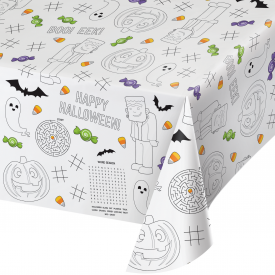 HALLOWEEN ACTIVITY PAPER TABLE COVERS