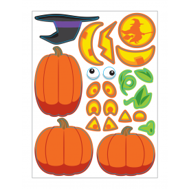 HALLOWEEN STICKERS PUMPKIN FACES