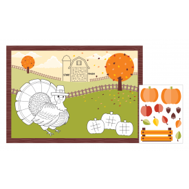 THANKSGIVING FALL SCENE ACTIVITY PLACEMATS