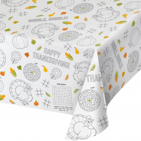 THANKSGIVING ACTIVITY PAPER TABLE COVERS
