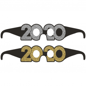 2020 NEW YEAR'S PAPER GLASSES