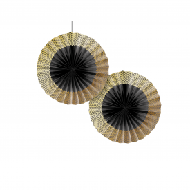 GOLD SEQUIN PAPER FANS