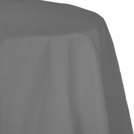 GLAMOUR GRAY OCTY ROUND TABLECLOTH