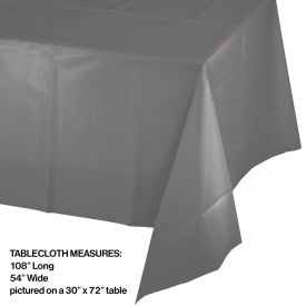 GLAMOUR GRAY PLASTIC TABLECLOTH