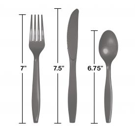 GLAMOUR GRAY ASSORTED PLASTIC CUTLERY