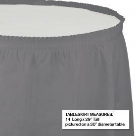 GLAMOUR GRAY PLASTIC TABLESKIRT