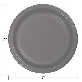 GLAMOUR GRAY DESSERT PLATES