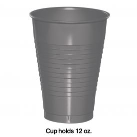 GLAMOUR GRAY 12 OZ PLASTIC CUPS