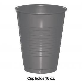 GLAMOUR GRAY PLASTIC CUPS
