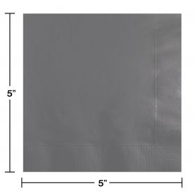 GLAMOUR GRAY BEVERAGE NAPKINS