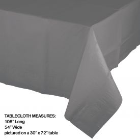 GLAMOUR GRAY PAPER TABLECLOTH