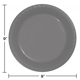 GLAMOUR GRAY PLASTIC PLATES