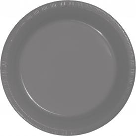 GLAMOUR GRAY PLASTIC BANQUET PLATES
