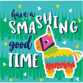 'Have a Smashing Good Time' Pinata Fiesta Fun Beverage Napkins