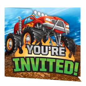 MONSTER TRUCK RALLY INVITATIONS