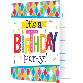 BRIGHT BIRTHDAY INVITATIONS