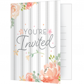 FARMHOUSE FLORAL INVITATIONS