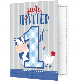 FARMHOUSE BIRTHDAY INVITATIONS
