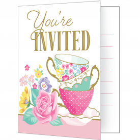 FLORAL TEA PARTY INVITATIONS