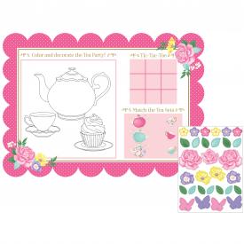 FLORAL TEA PARTY ACTIVITY PLACEMATS
