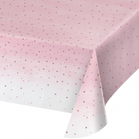 ROSÉ ALL DAY PLASTIC TABLECLOTH