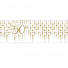 SPARKLE AND SHINE GOLD GIANT PARTY BANNER