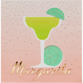 HAPPY HOUR MARGARITA BEVERAGE NAPKINS