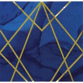 NAVY BLUE AND GOLD FOIL NAPKINS