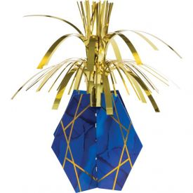 NAVY BLUE AND GOLD FOIL CENTERPIECE